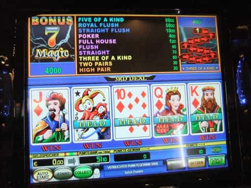 オンラインカジノのビデオポーカーをプレイしよう